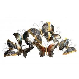 decoration murale metal l envol de papillons design l 100 cm