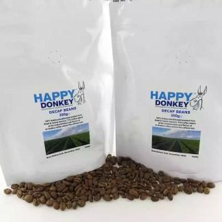Image displaying decaffeinated coffee beans.