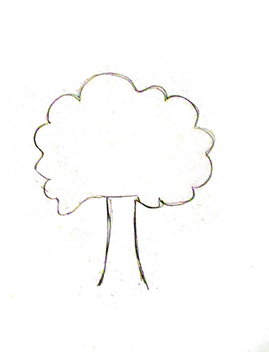 How To Draw A Tree Happy Family Art