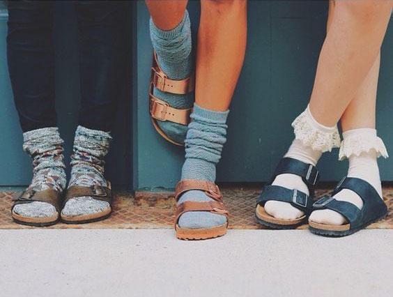 Birkenstocks W/ Socks; Post-Modernist