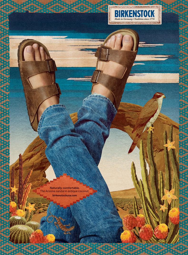 birkenstock arizona sandal vintage 1970's advertisement