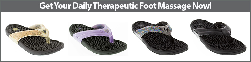 Get your daily therapeutic foot massage with Kenkoh Massage Sandals!
