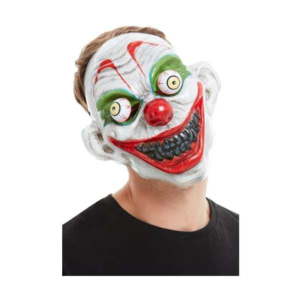 Masque clown terrifiant avec yeux mobiles, adulte