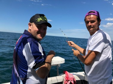 tibby flora and jaroslav zjak happy fisherman port phillip bay