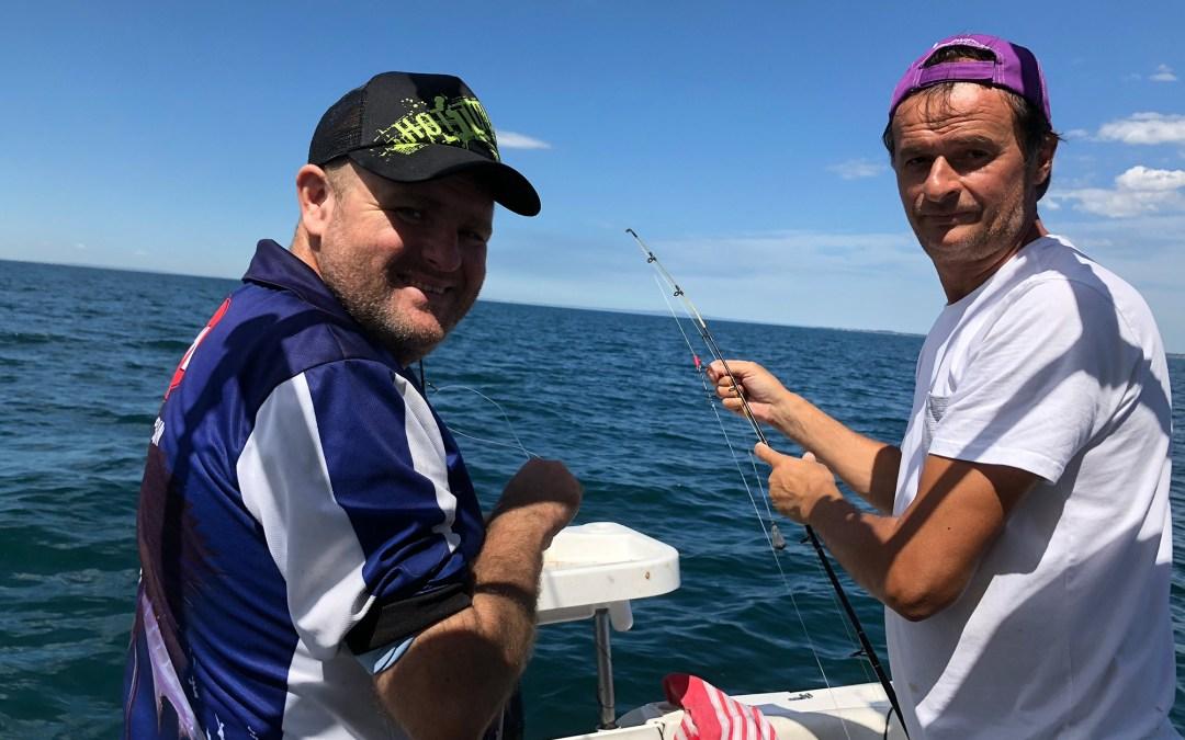 tibby flora and jaroslav zjak happy fisherman port phillip bay