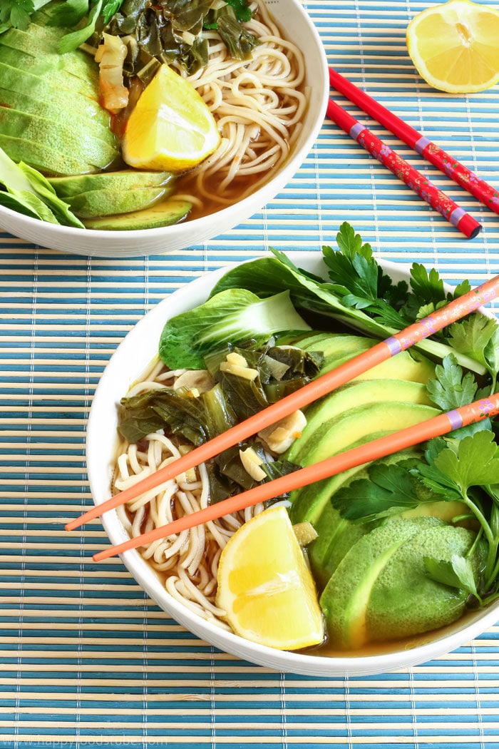 Homemade Ramen with Chow Mein Noodles Photos