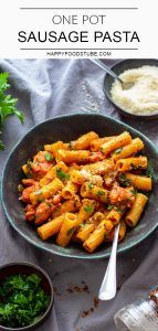 Quick and Easy One Pot Sausage Pasta Recipe