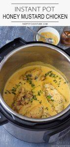 Instant Pot Pressure Cooker Honey Mustard Chicken Recipe