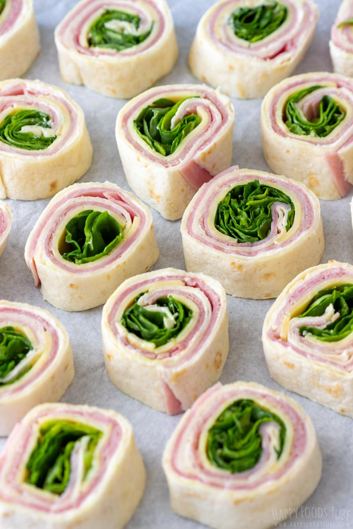 Ham & Cheese Pinwheels with Spinach