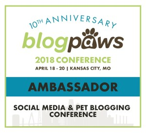 10th Anniversary BlogPaws pet blogging conference ambassador badge