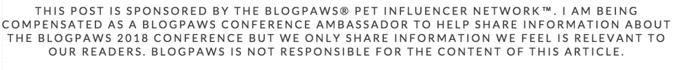 BlogPaws Conference Sponsored Post Disclaimer