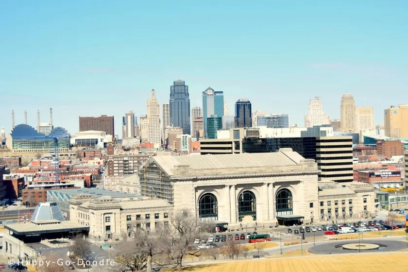 Best View of Kansas City skyline is from the World War 1 Memorial