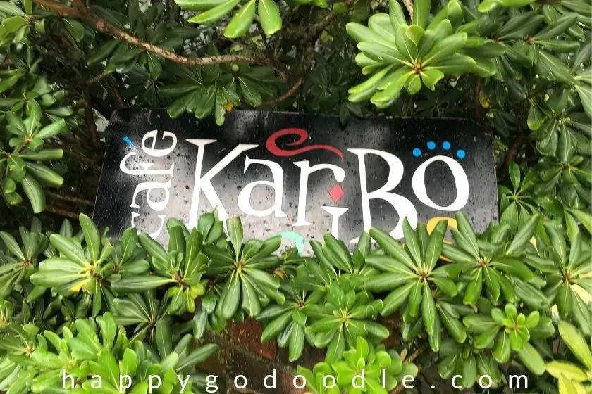 photo of cafe karibo's sign