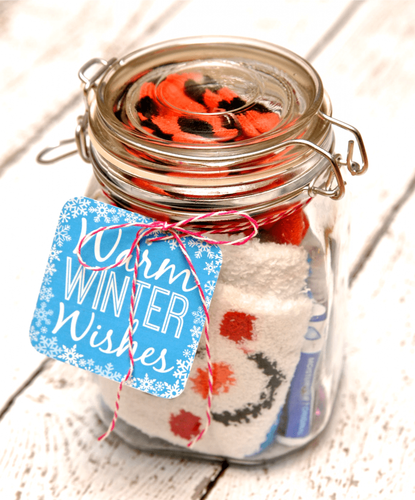 Winter Survival Kit Gift in a Jar