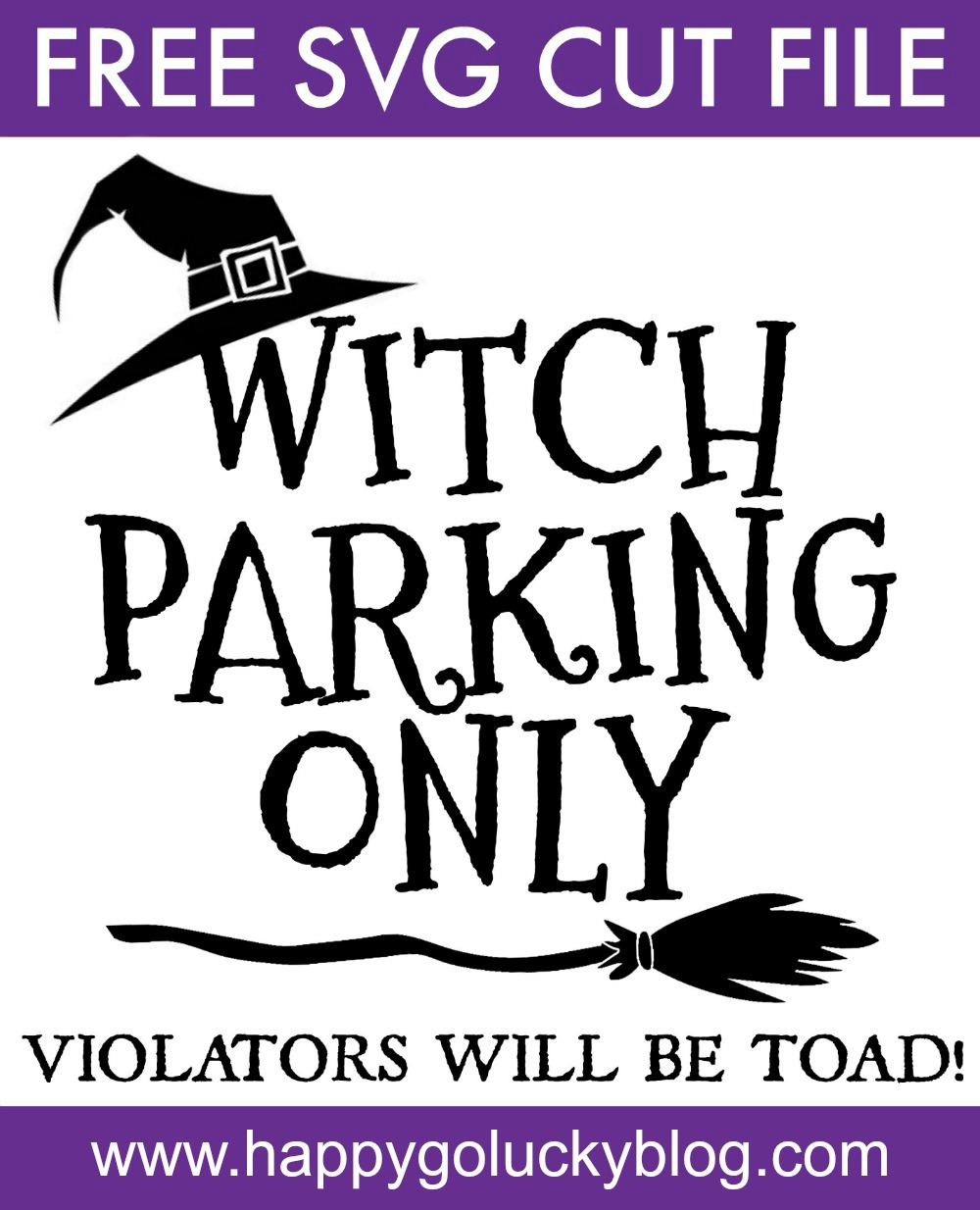 Download DIY Halloween Signs with Free Witch SVG Cut Files - Happy ...