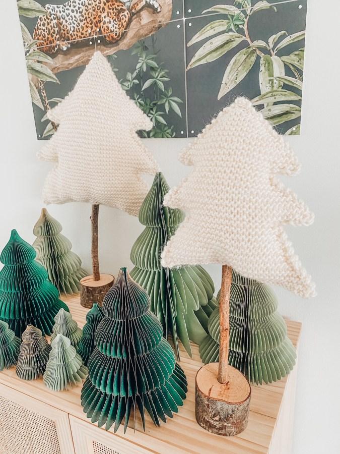 kerstboompje breien
