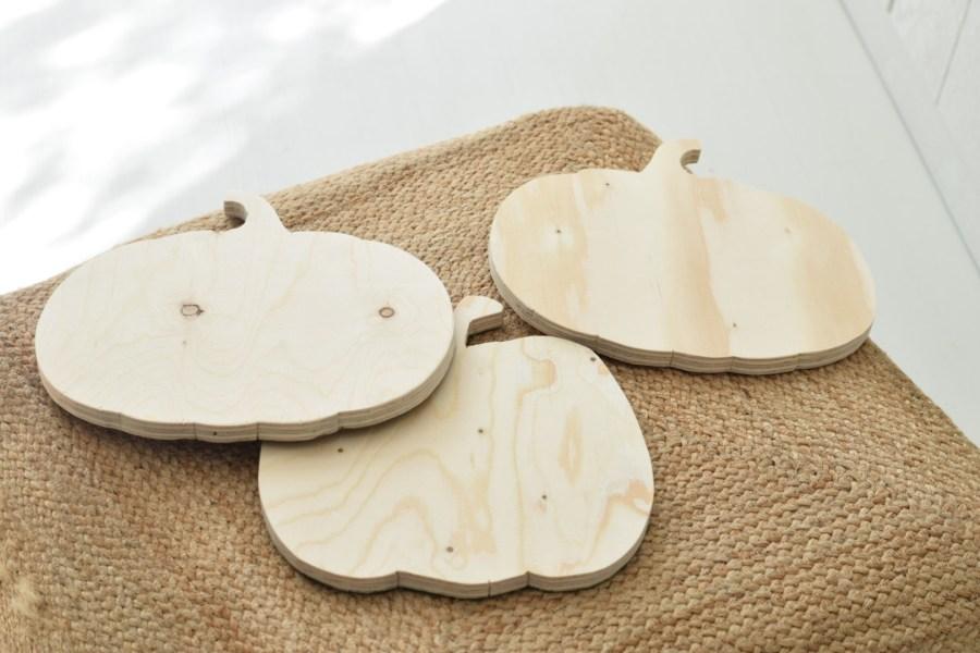 DIY pompoen plank
