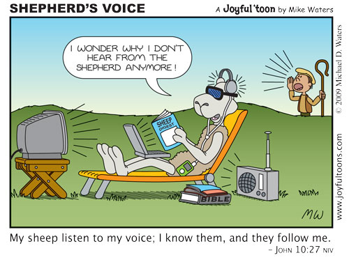 Learn to recognize God's voice