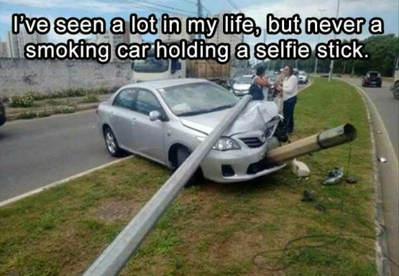 Funny Friday: Smoking Car Holding a Selfie Stick
