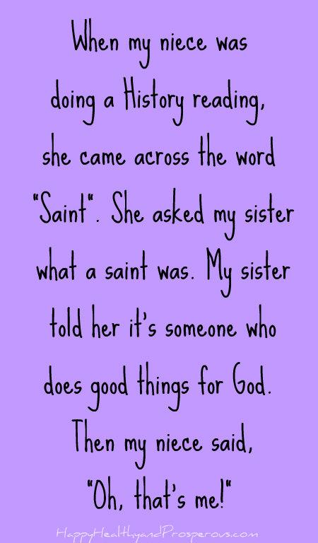 What's a Saint?