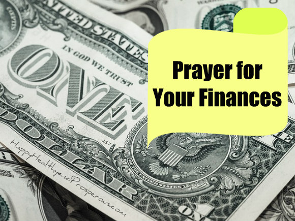 Prayer for your finances...