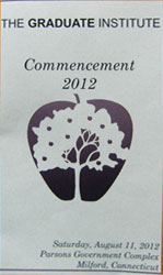 The Graduate Institute Commencement 2012