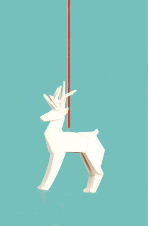 Reindeer Origami Christmas Ornament