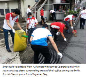 Ajinomoto's 'Clean Up our Earth Together Day'