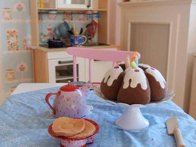 IKEA Duktig Kuchen Kinder Vintage Tisch Lilifee Teegeschirr