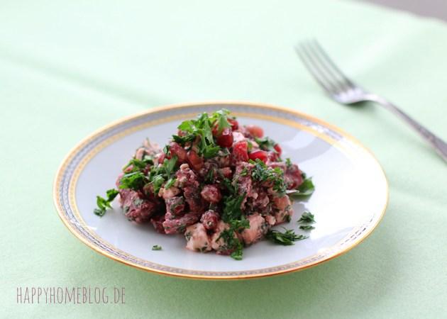 Rote Beete Granatapfel Salat mit Feta und Petersilie by happyhomeblog.de