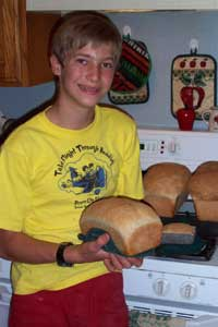 Ammon bakes bread!