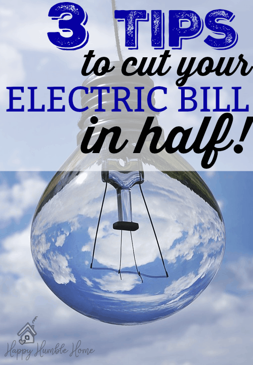 3 Tips to Cut Your Electric Bill in Half! I tried these ideas and saved so much money on my electric bill!!! You have to try this!