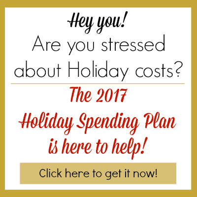 2017 Holiday Spending Plan