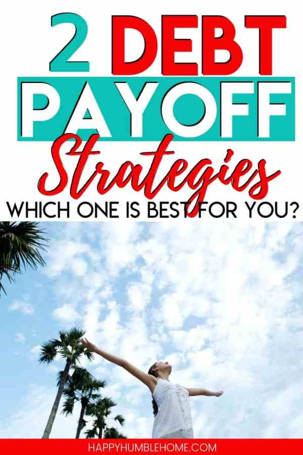 2 Debt Payoff Strategies: Which one is right for you? This post explains everything you need to know about how to pay off your debt. Find out if you should use Dave Ramsey's Debt Snowball or the Debt Avalanche. Free Printable Debt Tracker Included!!