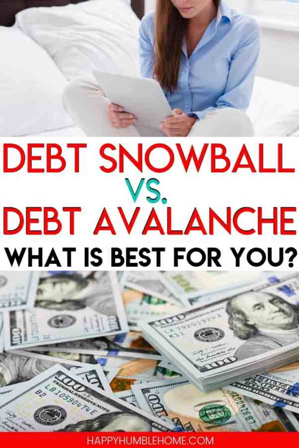 Debt Snowball vs. Debt Avalanche - which strategy is right for you? Learn all the important information you need to know about each one and choose the strategy that helps you pay off your debt fastest! If you feel like you're drowning in debt, you need to read this! Free printable debt tracker included!