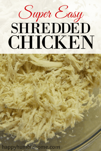 Super Easy Shredded Chicken! This recipe is awesome and can be used for so many things!