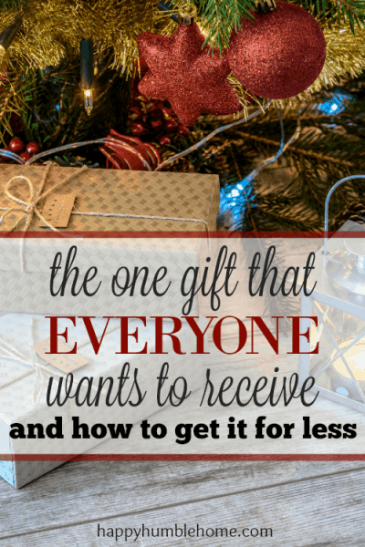 The Gift that Everyone wants to receive - and how to get that gift for less! This will help you with those hard to buy for people on your list this year!!