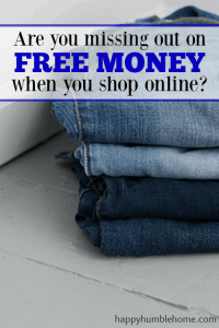 How to Get Paid for Shopping Online - Wow! I actually got a check in the mail for using this to buy things I was going to buy anyway!