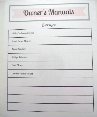 How to Organize Owner's free printable