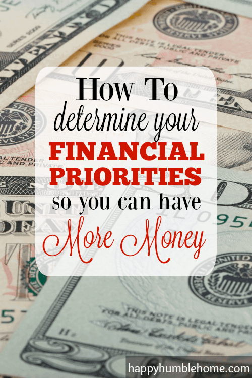 How to Determine your Financial Priorities so you can have More Money!  I did this and now I have a clear plan about what I need to do to control my money and I've already saved money!!