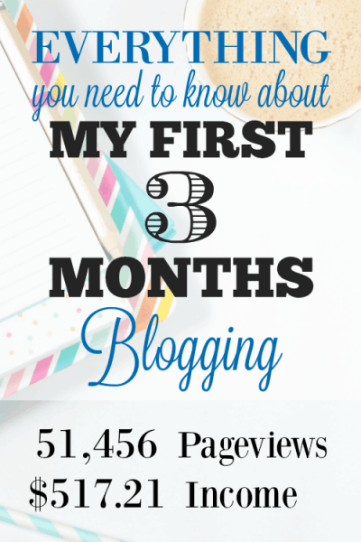 Everything you need to know about my First 3 Months Blogging - 51,456 Pageviews and $517 Income!! You can do it too!