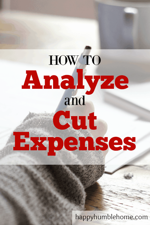 How to Analyze and Cut Expenses so you can have MORE MONEY! This guide makes it so simple to cut back on spending! I saved a TON with this method!!
