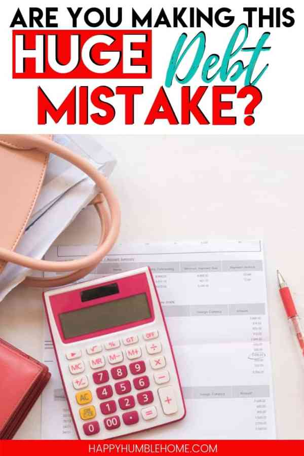Are you making this huge debt mistake - I would have been out of debt sooner if I wasn't doing this one stupid thing! This is true for any debt strategy you are using - debt snowball, debt avalanche, or anything other strategy. Whether you're paying off credit cards or student loans, you need to know about this!