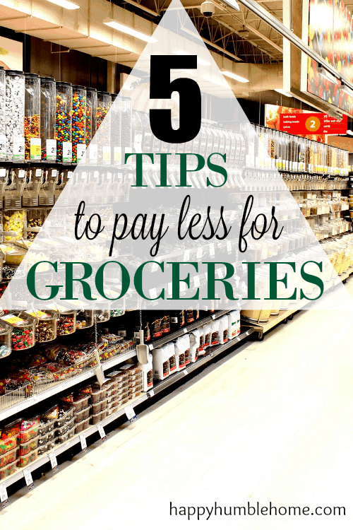 5 Tips to Spend Less on Groceries! I only spent $50 on my groceries this week using these tips! #5 was surprising!
