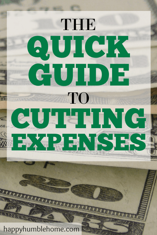 A Beginner's Guide to Cutting Expenses - This Quick Guide will give you all the info you need to Cut Expenses right now! I saved so much money by doing this - You have to try it!