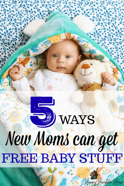 5 Easy Ways Moms can get Free Baby Stuff - Woah! I had no idea you could I could get so much free stuff for my baby!! #1 is my favorite! I ended up with boxes of free stuff!
