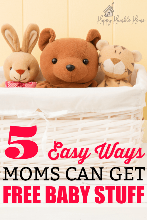5 Easy Ways Moms can get Free Baby Stuff - I had no idea you could I could get so much free stuff for my baby!! #1 is my favorite! I ended up with boxes of free stuff!