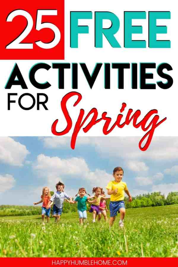 25 Free Activities for Spring - Keep all the kids (and adults!) in your family entertained for free this Spring with these easy outdoor activities! Some of these idea are simple and easy to do anytime. Others will be for special occasions. Toddlers, Preschoolers, Elementary School Aged Children, and even teens will love these activities!