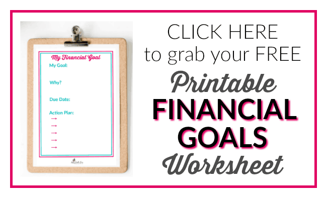 FREE Printable Financial Goals Worksheet