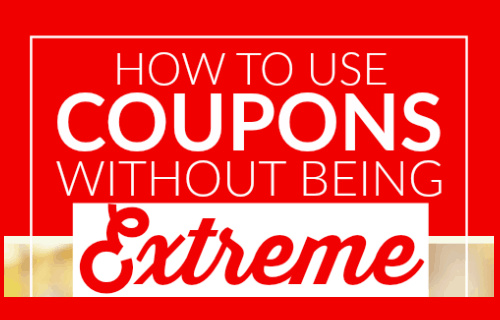How to use coupons without being extreme